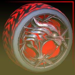 Crimson Dire Wolf