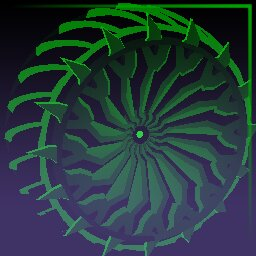 Forest Green Glaive: Inverted